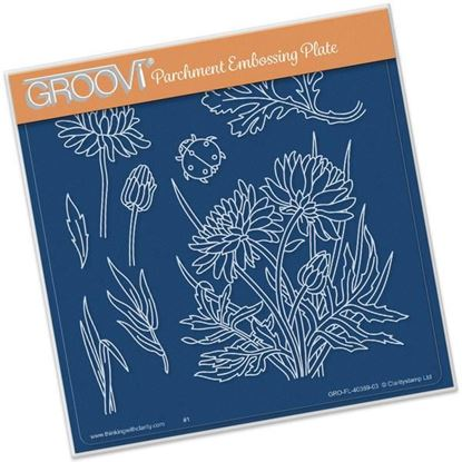 Picture of Dahlias Groovi A5 Plate by Jayne Nestorenko