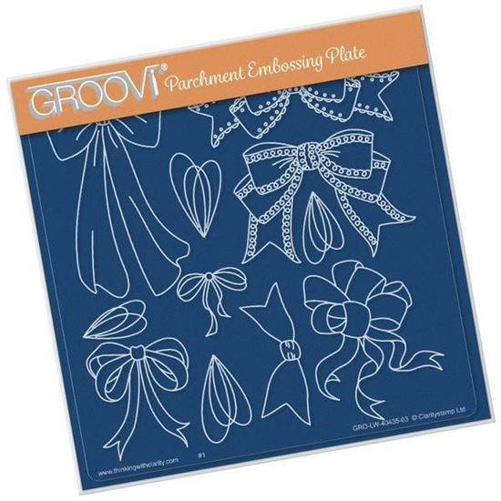 Ribbons & Bows Groovi A5 Square Plate