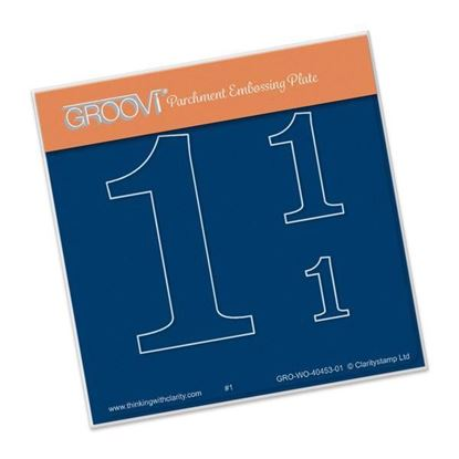 Open Number 1 Groovi A6 Square