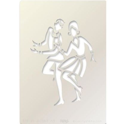 Clarity Stencil A5 Jive Dancers