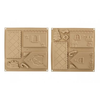 Silicone Gingerbread House Mat Set 2