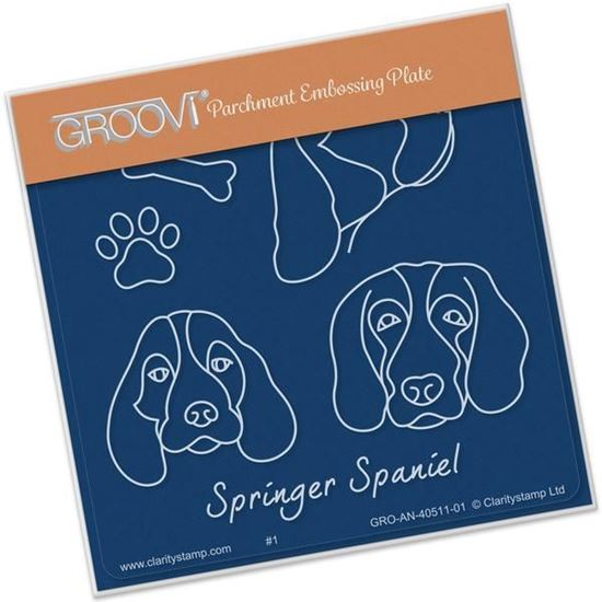 Kennel Club Groovi A6 Square - Springer Spaniel