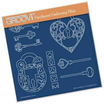 Key To My Heart A5 Square Groovi Plate