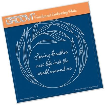Willowy Wreath - Groovi A5 Square Plate