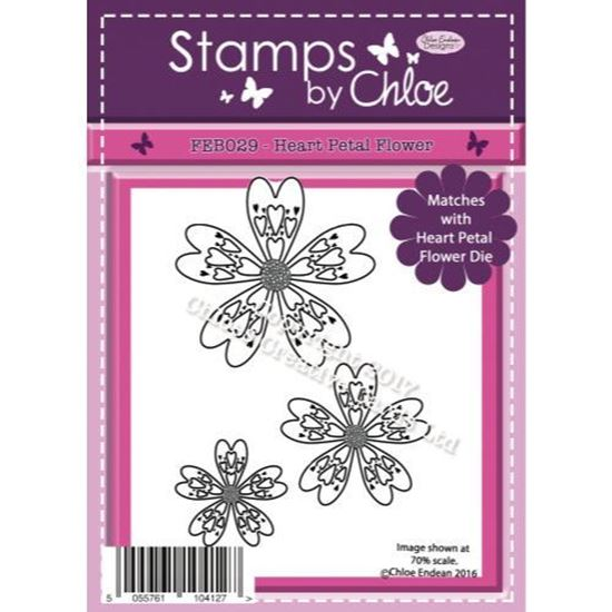 Stamps by Chloe - Heart Petal Flower