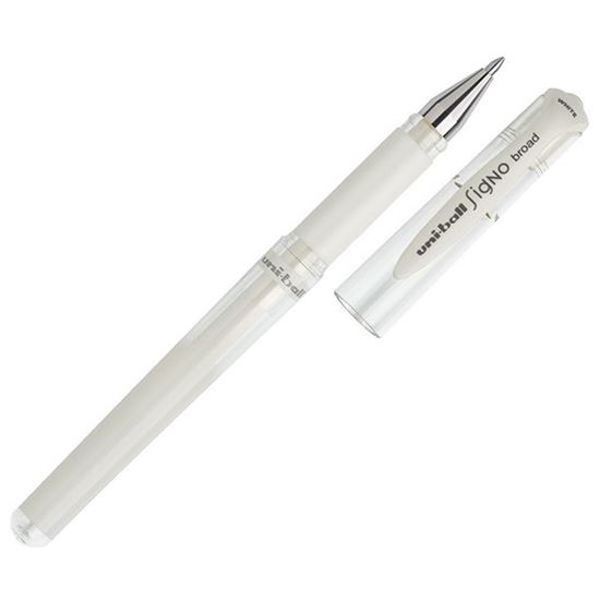 Uni-Ball Signo Gel White Rollerball Pen