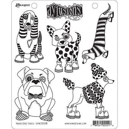Dylusions Rubber Stamps - Puppy Dogs Tales
