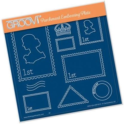 Postage Stamp - Groovi A5 Square Plate