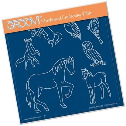 Country Animals - Groovi A5 Square Plate -