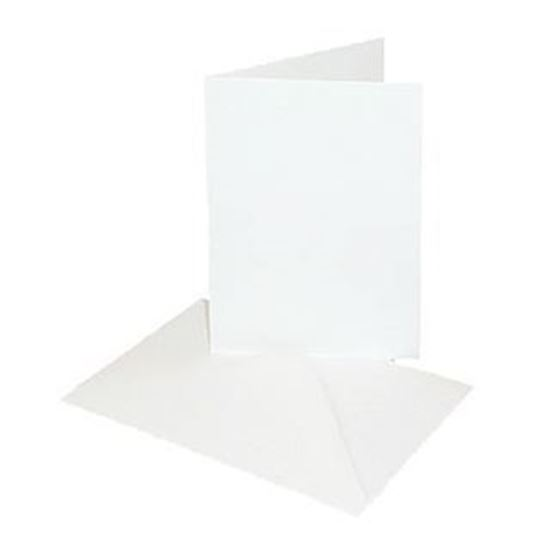 Luxury White Cards & Envelopes A6