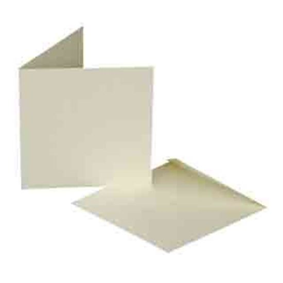 "Cards & Envelopes 8"" x 8"" Ivory"