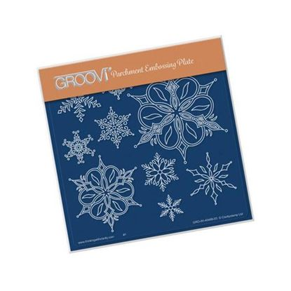 Funky Snowflakes Groovi A5 Square Plate