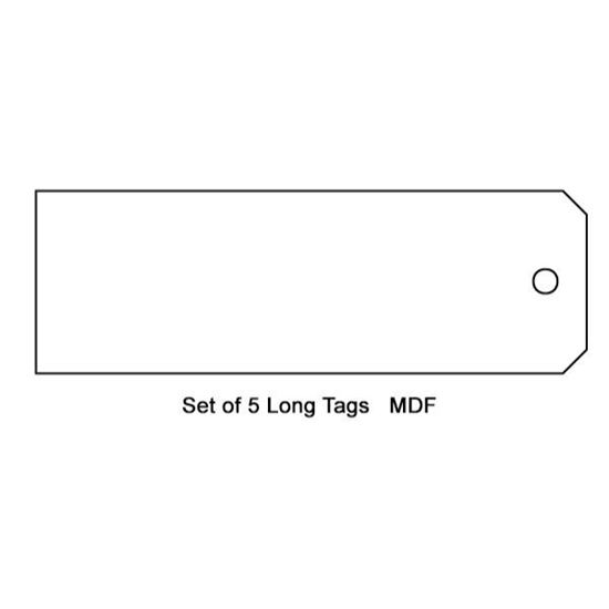 Tando Creative MDF Long Tags 190mm x 75mm