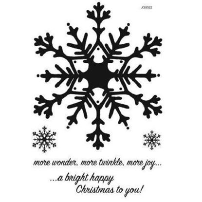 Woodware Clear Stamp Set - Huge Snowflakes