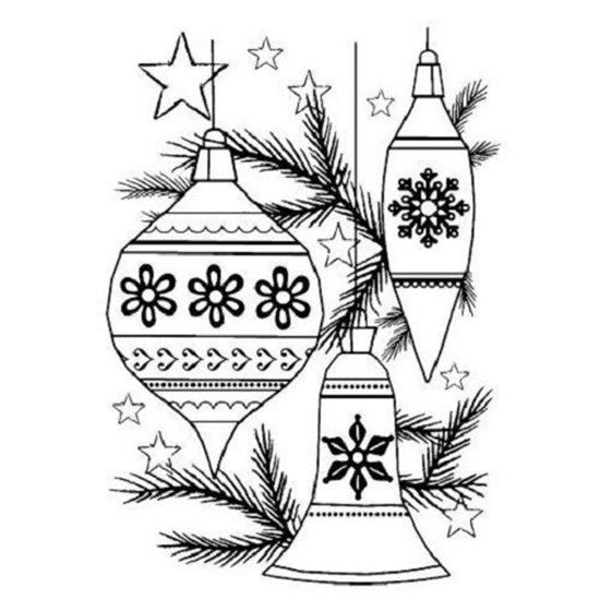 Woodware Clear Stamp Set - Classic Baubles