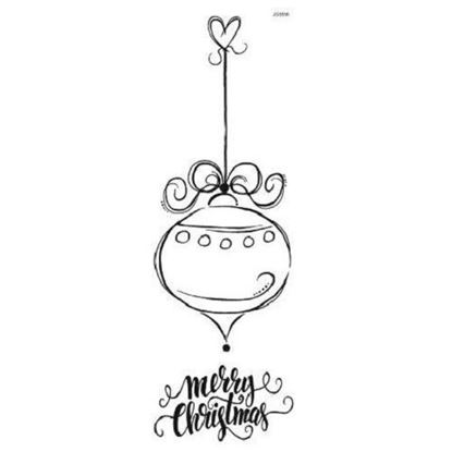Woodware Clear Stamp Set - Dotty Solo Bauble