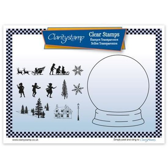 Snow Globe - Clarity Outline Mask & Stamp Set