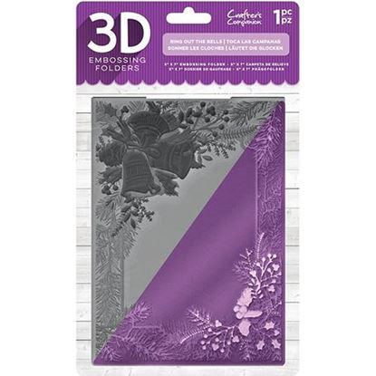 Crafters Companion 3D Embossing Folder - Ring Out The Bells