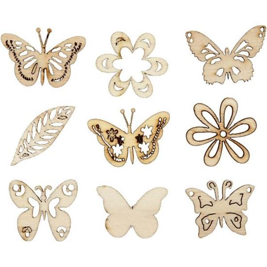 Wooden Decorations Summer/ Butterflies