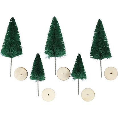 Christmas Spruce Trees with Wooden base