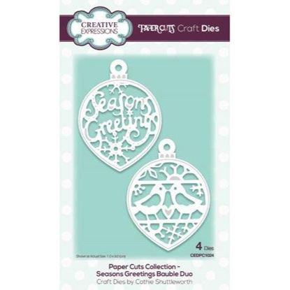 Creative Expressions Paper cuts Die - Seasons Greeting Bauble Duo