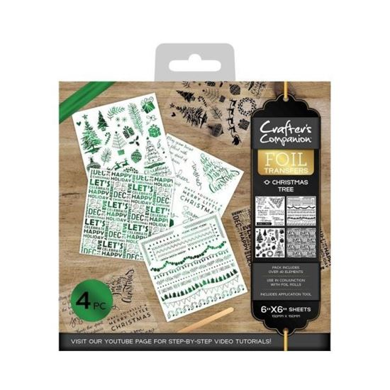Crafters Companion Foil Transfers - 0 Christmas Tree
