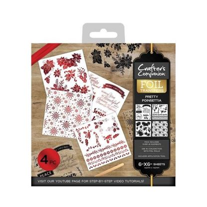Crafters Companion Foil Transfers - Pretty Poinsettia