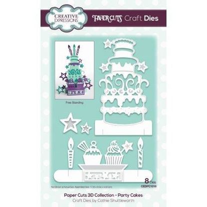 Creative Expressions Paper Cuts Die - Party Cakes