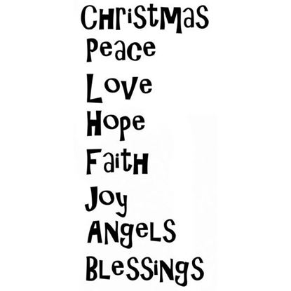 Lavinia Stamps  - Christmas Blessings Verse