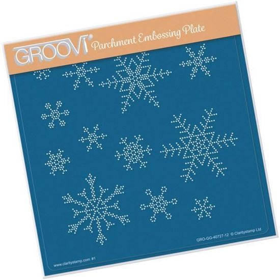 Small Snowflakes Grid - Groovi A5 Square