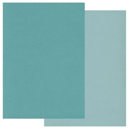 Two Tone A5 Coloured Parchment - Teals