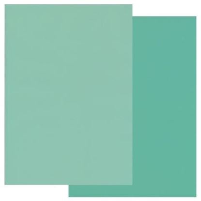 Groovi A4 Parchment Two Tone Light Turquoise /Turquoise