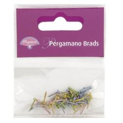 Pergamano Brads 3mm - Pastel Mixed