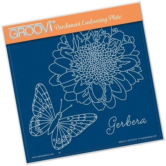 Gerbera & Butterfly - Groovi A5 Square Plate