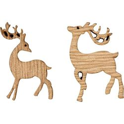 Wooden Reindeers Set 6