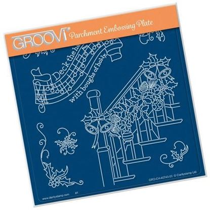 Deck the Halls - Groovi A5 Square Plate