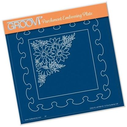 Frilly Squares - Groovi A5 Square Plate