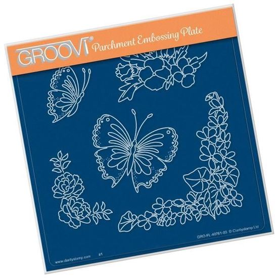 Frilly Square Friends - Groovi A5 Square Plates