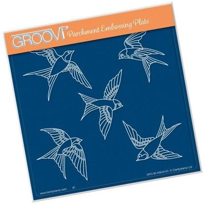 House Martins  - Groovi A5 Square Plate