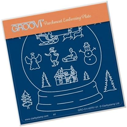 Snow Globe Outline Groovi Plate A6 Square