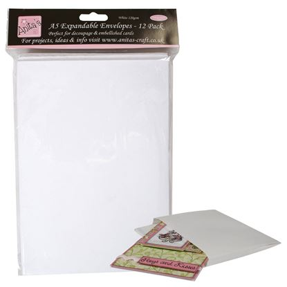Picture of Anita's Expandable Envelopes A5 - White
