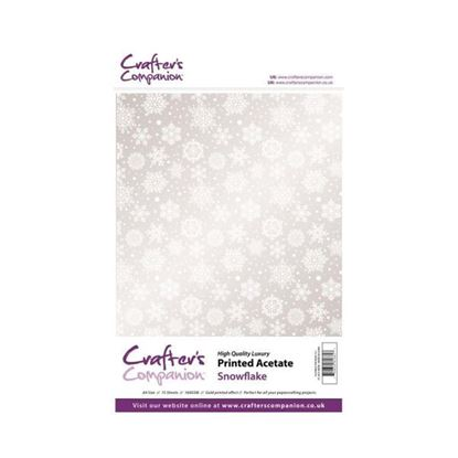 A4 Snowflake Acetate Pack 15