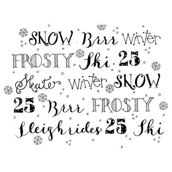Daisy Mae Stamp - Winter Words Background