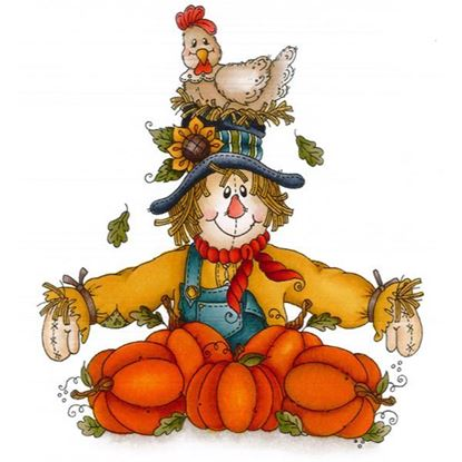 Daisy Mae Stamp - Pumpkin Patch Scarecrow