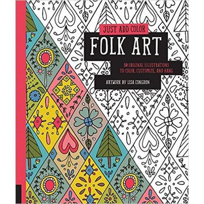Just Add Colour Folk Art Adult Colouring Book
