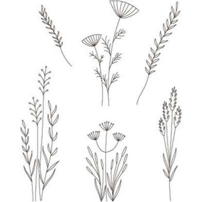 Clarity Clear Stamp Set - Meadow Grasses