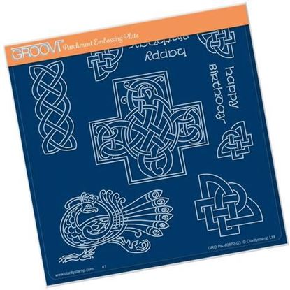 Celtic Patterns - Groovi A5 Square Plate