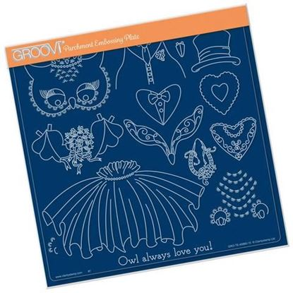 Wedding Owl Accessories Groovi A4 Square Plate