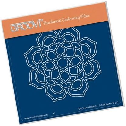 Bloom Mandala Groovi Plate A6 Square