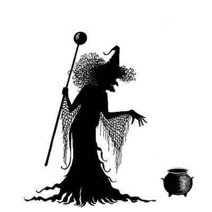 Lavinia Stamps  -  Willow the Witch & Cauldron